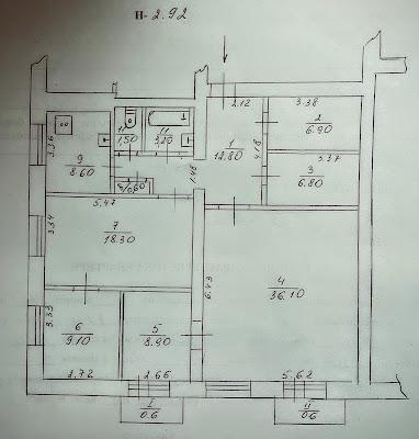Продажа 4-комнатной сталинки на ЮГОКе