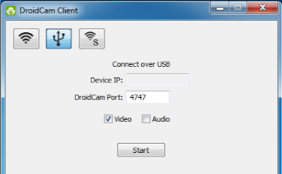 Connect over USB