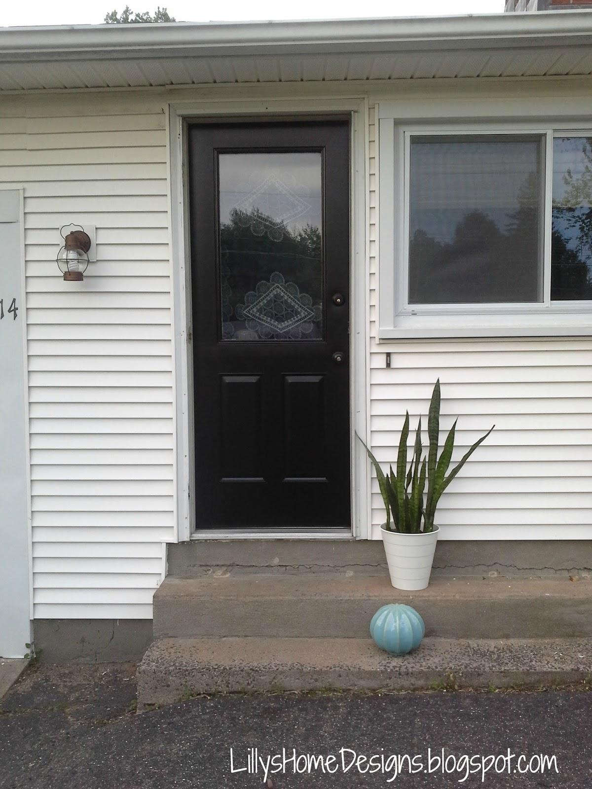 Front Door Makeover Lillyu0027s Home Designs Modern Masters Black Elegant