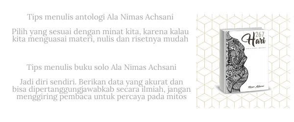 Nimas Achsani catatan ibu muda