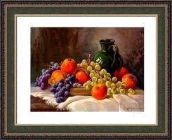 Still life whit jug and fruits