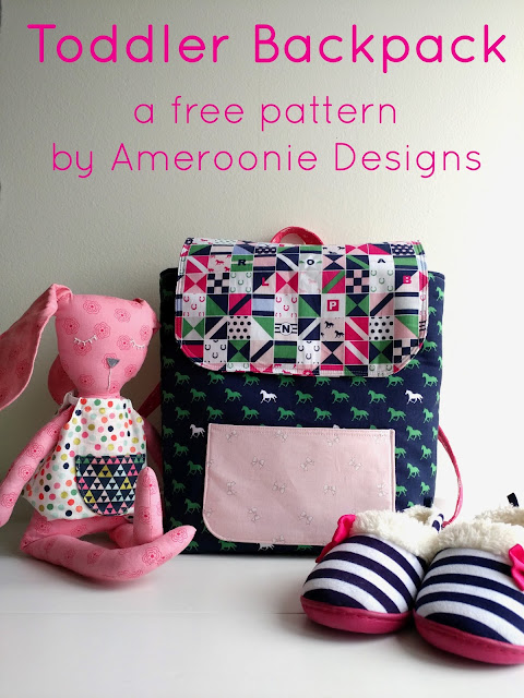 DIY Toddler Backpack Pattern Update, featured by top US sewing blog, Ameroonie Designs: a free pattern to sew a toddler sized backpack
