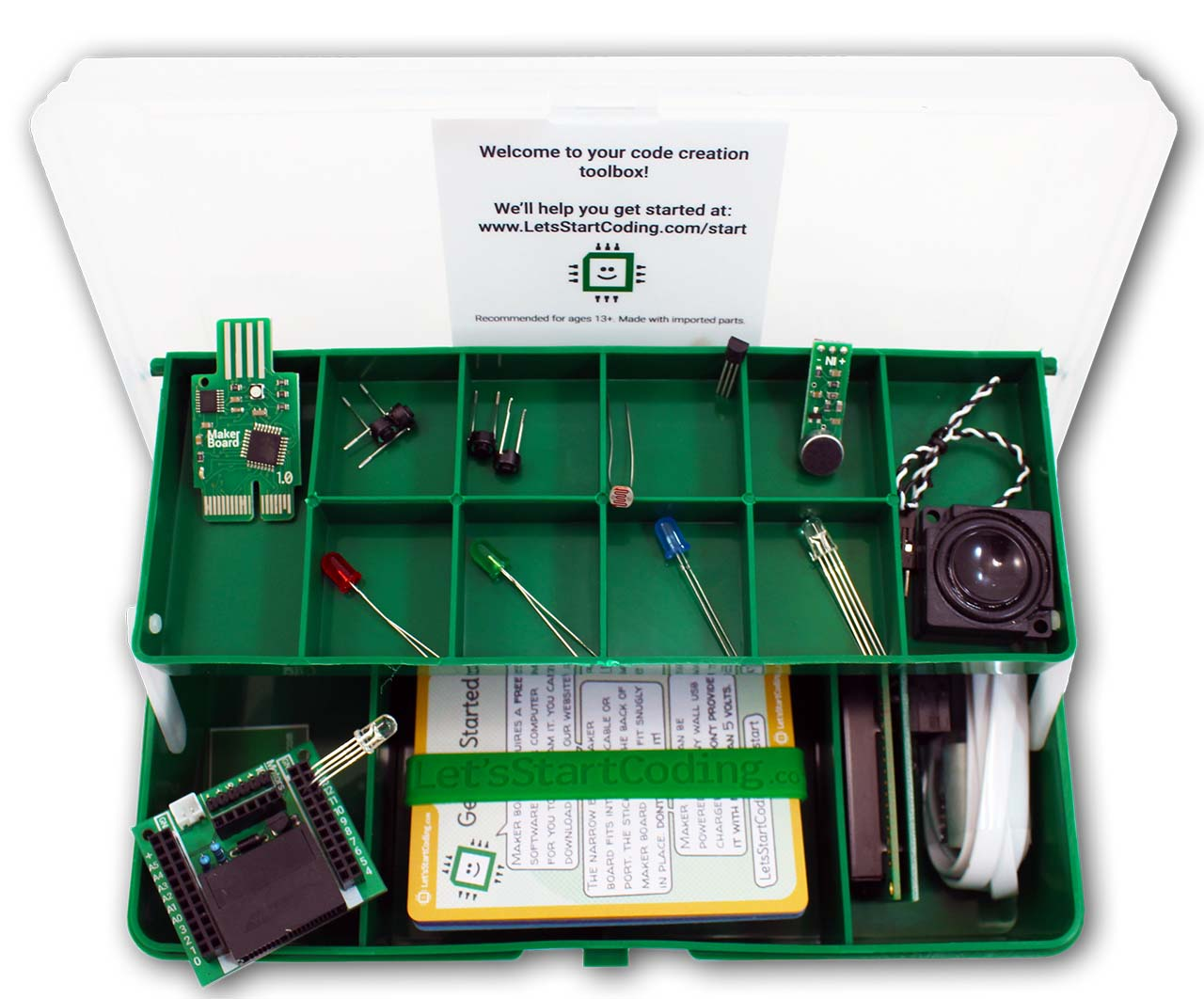 Lets Start Coding Review Beginner Hardware Programming Extending A Lighting Circuit Diy Tips Projects Advice Uk The Kits Come In Lovely Fold Out Storage Box Which Is Great For Finding Parts And Perfect Packing Them Away Until Next Time