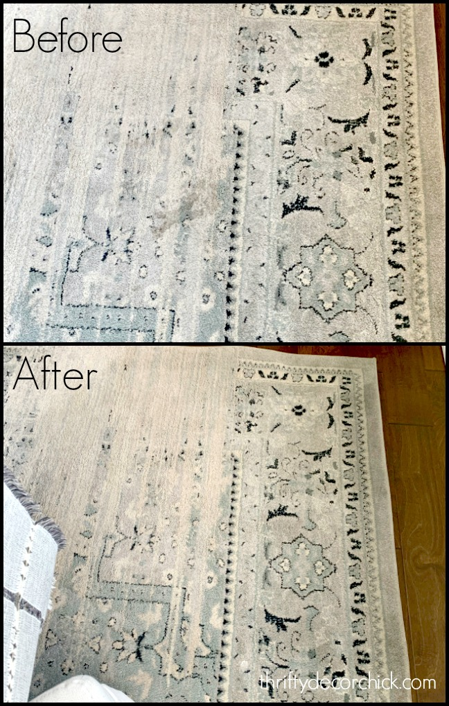 Before and after carpet cleaner
