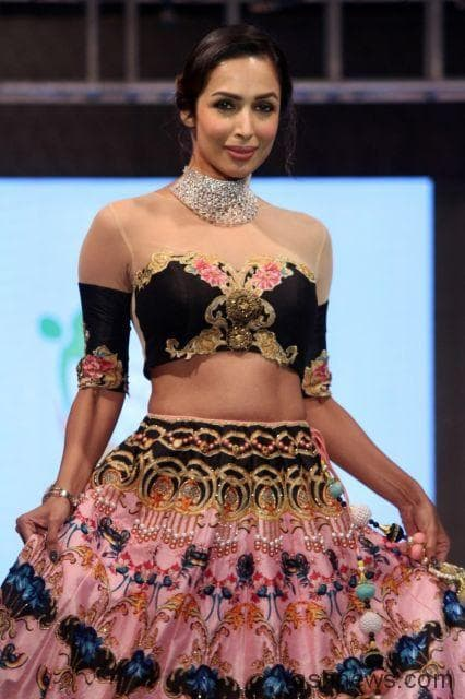 Gorgeous Malaika Arora Khan walking the ramp at SSJA Sliver Nite in Archana Kochhar's creation