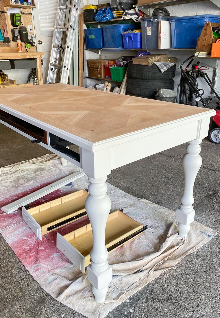how to make over desk with paint, diy desk makeover, painted desk diy makeover