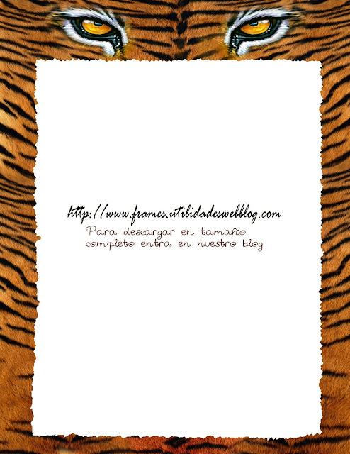 marco para fotos textura de tigre