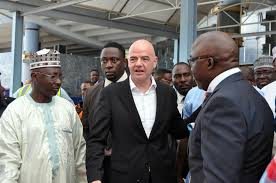 Gianni Infantino when he visited Nigeria