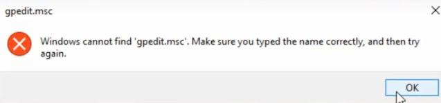 إصلاح gpedit.msc غير موجود