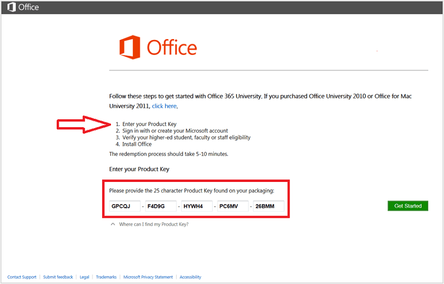 microsoft office download with product key