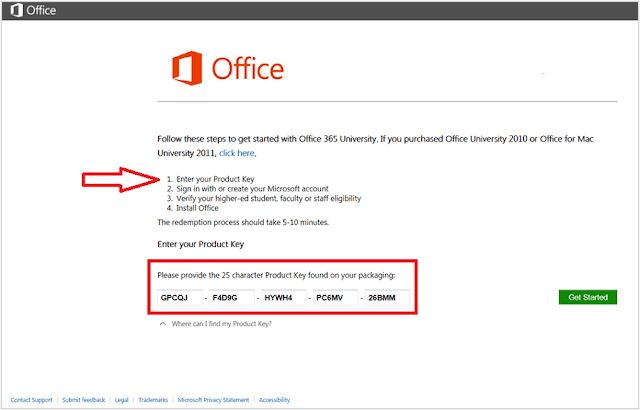download microsoft office with product key