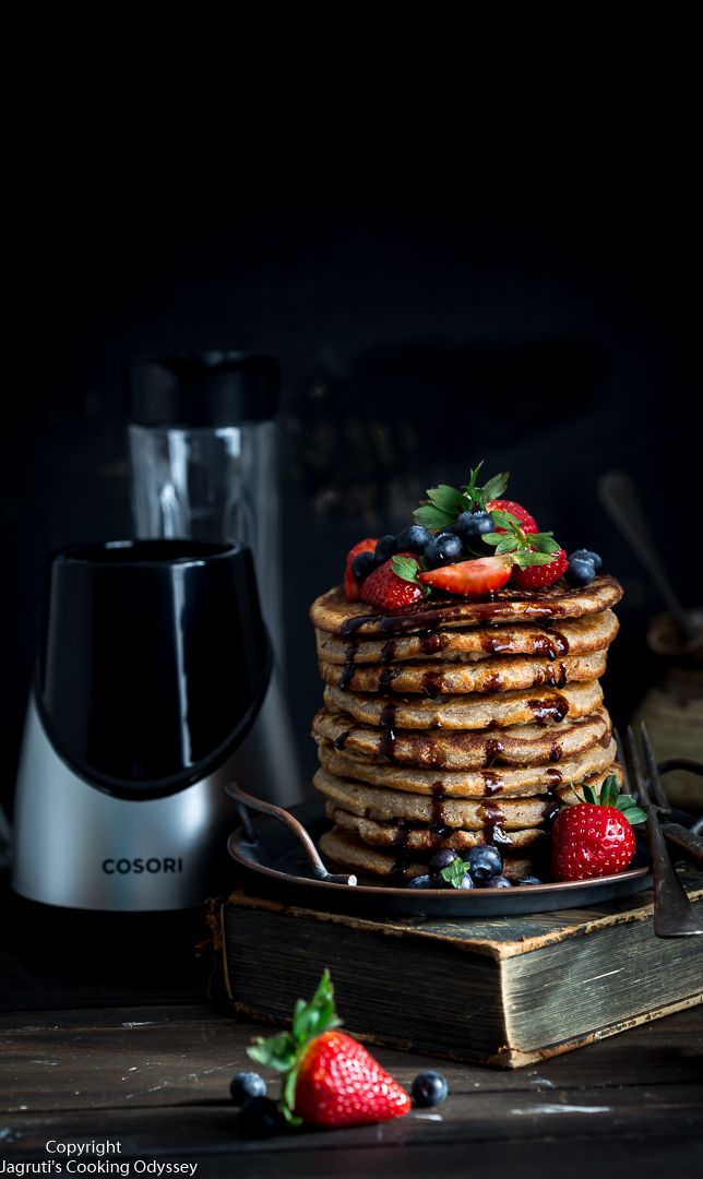 Image of pancake stack with Cosori Blender