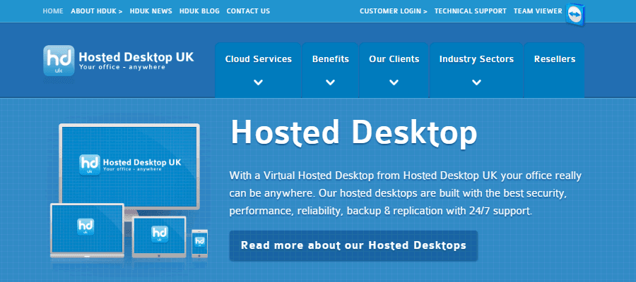 Hosted Desktop UK offers infrastructure built upon high-grade servers for maximum performance