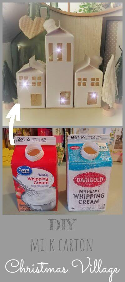 DIY Milk Carton Christmas Village