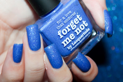 "Swatch of the nail polish ""Forget Me Not"" from Picture Polish"