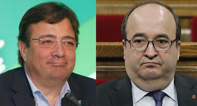 Miquel Iceta y Fernández Vara critican la consulta de Podemos a sus bases
