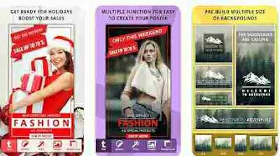 Aplikasi Pembuat Poster - Pelakat Kreator, Pengumuman, Halaman Iklan, Desainer