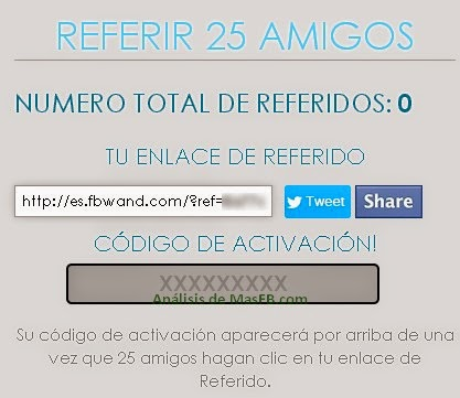SPAM de FBward para conseguir referidos