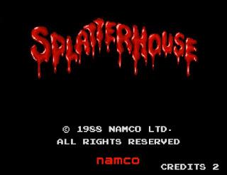 アーケードゲーム スプラッターハウスのタイトル画面