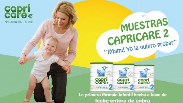 muestras gratis capricare leche de continuación