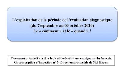 comment-exploiter-la-période-de-l'évaluation-diagnostique-allant-du-07-septembre-au-03-octobre-2020