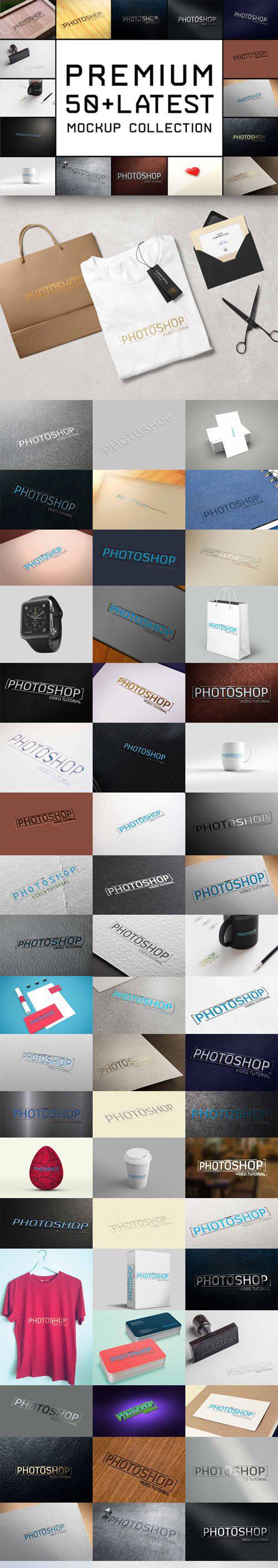 Top 54 Logo 68 PSD Mockups.140221