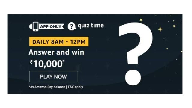 Amazon Quiz Answers Today 2 January win - ₹10000 Pay balance | 5 Winners