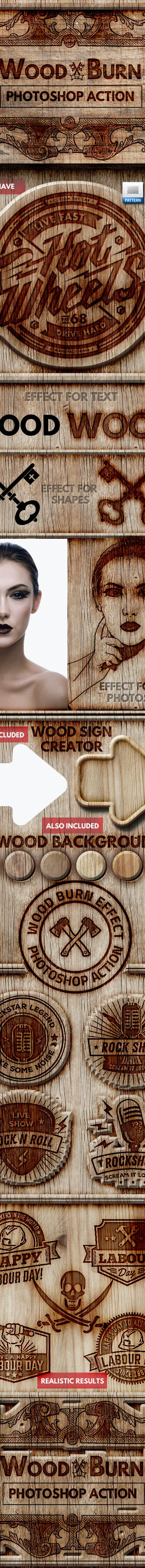 01 main preview wood burn photoshop action