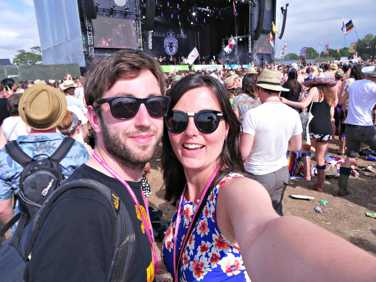 with Alex at Glastonbury