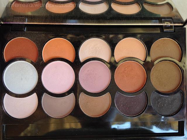 15 cores paleta de sombras Jasmyne