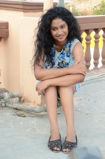 Actress Priyankha Stills in Floral Short Dress at Golmal Gullu Movie Pressmeet 0330.JPG