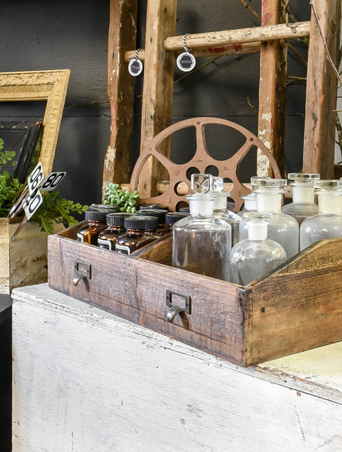 Vintage apothecary and medical bottles