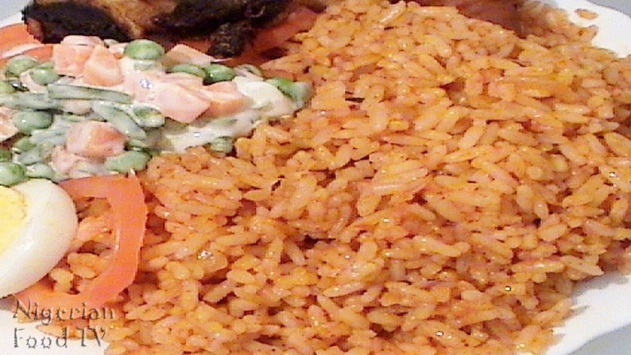 Nigerian jollof Rice, Nigerian Rice Recipes, Nigerian Rice meal ideas, nigerian rice, nigerian food tv, nigerian cuisine