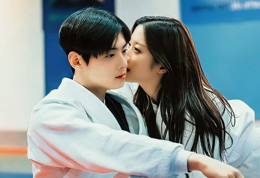 true beauty kissing scene, kdrama kiss