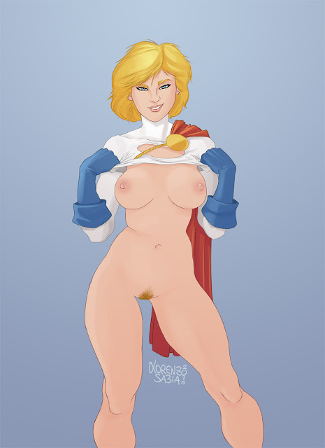 Power Girl Boobs by Lorenzo Sabia