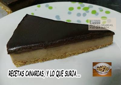 TARTA DE GOFIO CON COBERTURA DE CHOCOLATE
