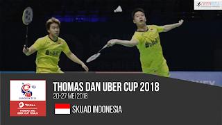 Pemain Indonesia di Thomas dan Uber Cup 2018