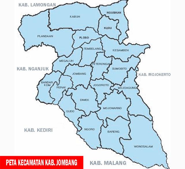 Gambar Peta Kecamatan Kabupaten Jombang