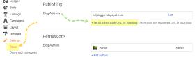 Custom Domain in blogger