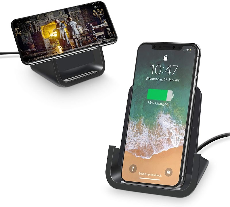 70% off  Wireless Charger 10W Stand Dock Cordless Chargers Compatible with iPhone Samsung Qi-Enabled Devices