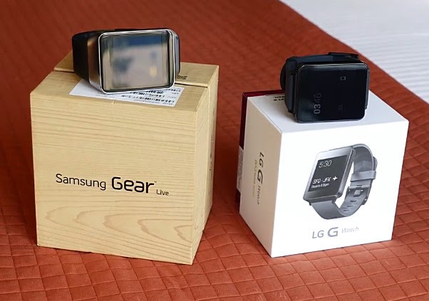 Samsung Gear Live vs LG G Watch