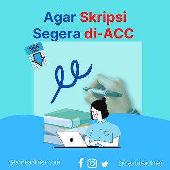 Tips ACC Skripsi