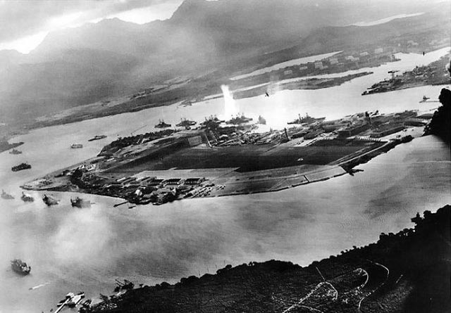 Mitsuo Fuchida photo of the attack on Pearl Harbor worldwartwo.filminspector.com