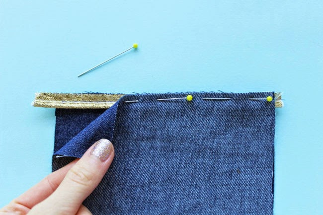 How to sew piping into a seam