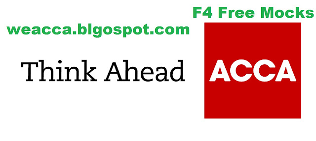 Free ACCA F4 mocks weacca.blogspote.com
