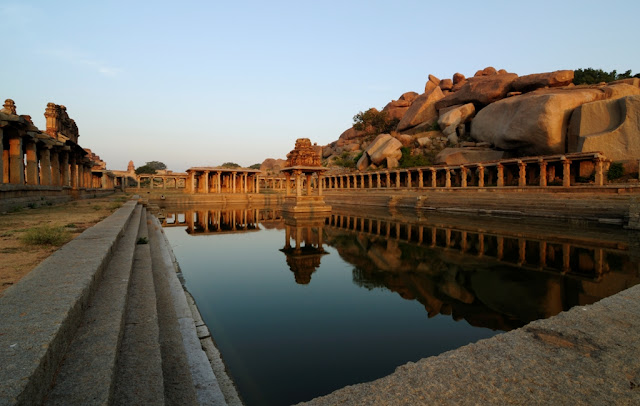 Pushkarini(Water tank) near Balakrishna temple - Hampi