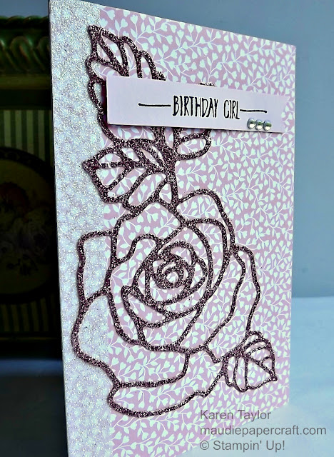 Stampin' Up! Rose Garden thinlits card