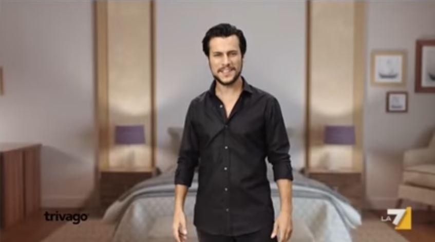 Modello Trivago pubblicità hotel a miglior prezzo con Foto - Testimonial Spot Pubblicitario 2017
