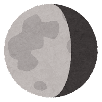 月の満ち欠けのイラスト3