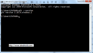 Cek Git di Command Prompt Windows